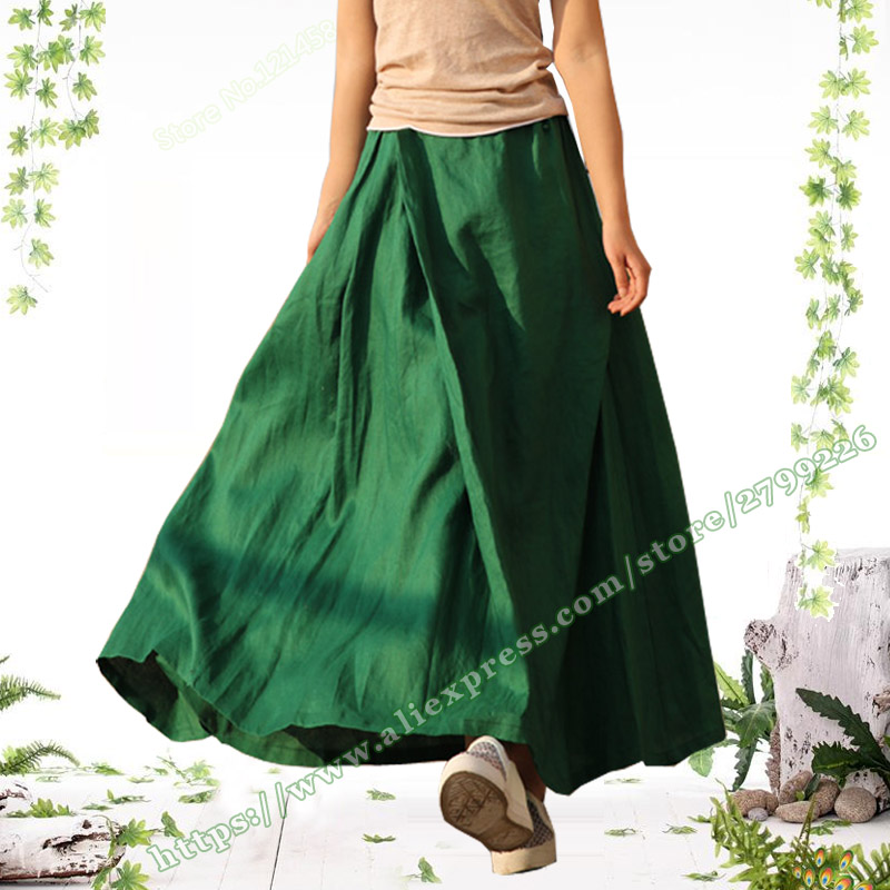 2019 Spring and Summer New Plus Size 5XL 6XL Green Grey 100 Linen Casual Women s