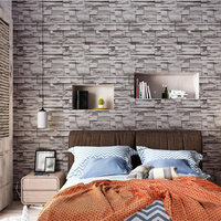 beibehang Chinese 3D stereo simulation brick grain stone pattern wallpaper restaurant hot pot shop culture stone wallpaper