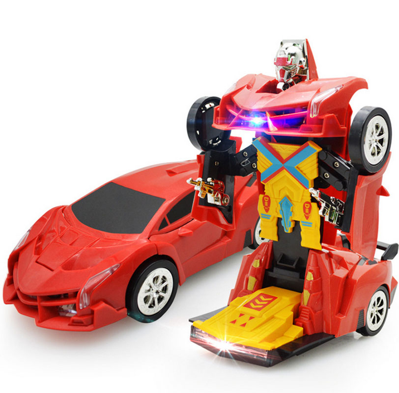 Electric Deformation Car Flashing Transformer Robot Car Toys for Boys Kids Children Universal Music