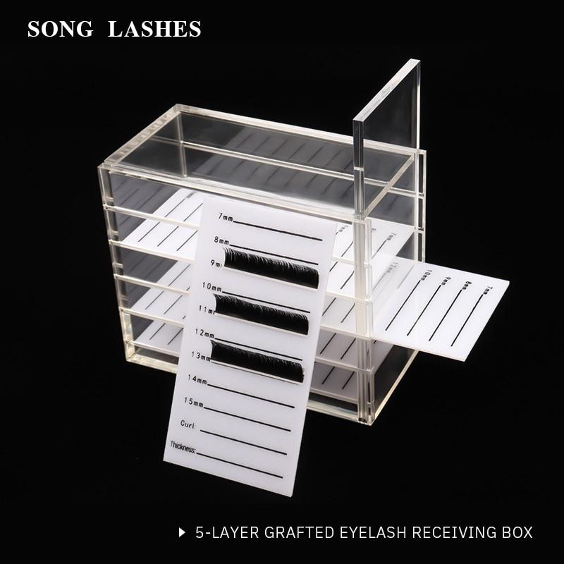 Eyelash Extension Storage Box Eyelash Extension Organizer Acrylic Lash Plate Storage Organizer Holder Eyelash Extension Tools