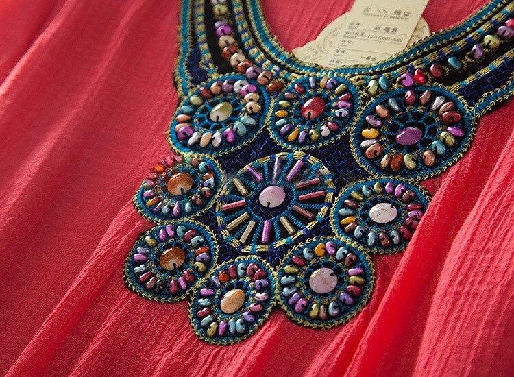 Летнее платье новинка года Цветочный принт белый красный Половина рукавом О-образным вырезом чешские Для женщин Повседневное Dresse плюс Размеры платье L, XL, XXL 3XL s1129