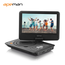 95 portable dvd player with swivel screen built in battery car trip travel digital