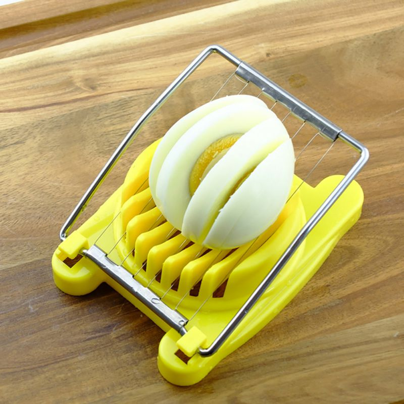 Stainless Steel Egg Slicer Kitchen Supplies Egg-Cutting Tool Easy To Clean Egg Slicer Novel Design Egg Slicer