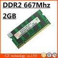 Акции памяти ram ddr2 2 ГБ 4 ГБ 667 МГц pc2-5300 so-dimm ноутбук, оперативной памяти ddr2 2 ГБ 667 pc2 5300 sodimm для ноутбуков, 2 ГБ памяти ddr2