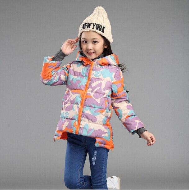 Good quality  New Children Winter Jacket Girls Warm Thickened Down Coat Kids Causal Outdoor Snow Coat Outerwear Parkas HB1026  цены онлайн