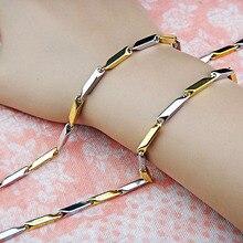Горячая 3 шт ожерелье из нержавеющей стали 316L женский мужской костюм простое ожерелье s Мода золото серебро ювелирные изделия A-848