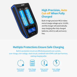 Image 4 - XTAR ST2 Fast Charger 30MIN Full Charged Type C USB Charger QC3.0 PD45II Adapter Wall Charging 20700 21700 18650 Battery Charger