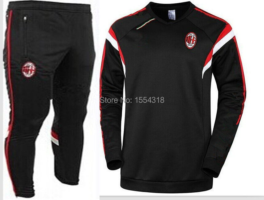 best authentic 9ee32 cc46d 14 to 15 ac milan training suit thin leg pants sweater The ...