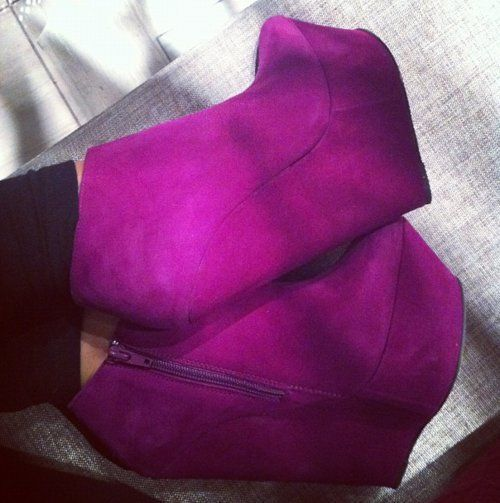 ФОТО Women Shoes Peep Toe Wedge Heel Flock Sandals with Buckle EU34-43 Large Size Shoes Women