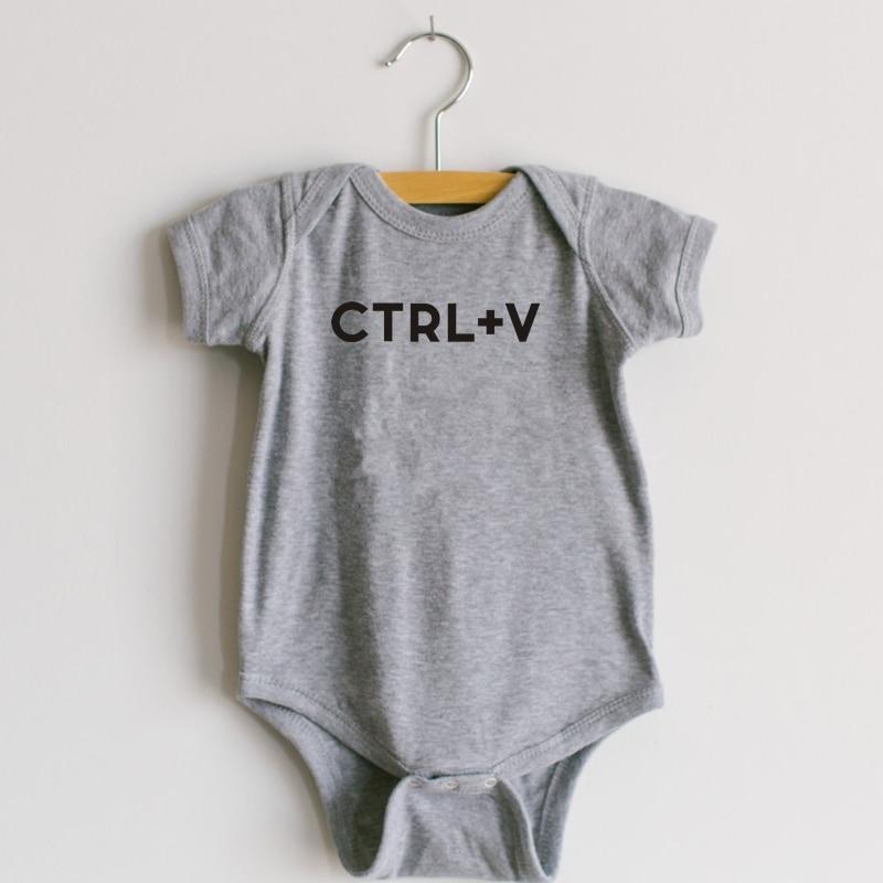 Футболка с принтом Ctrl+ C или боди с принтом Ctrl+ V для малышей, подарок на день отца