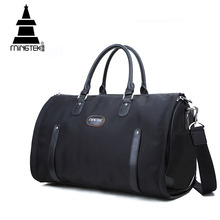Nylon Folding Travel Bag Hand Luggage Business Waterproof Shoulder Suit Bags Large Capacity Tote Foldable Duffle Bag Unisex