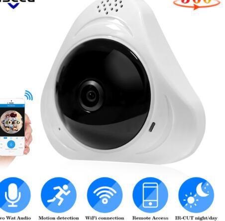 3D VR WIFI Camera 360 Degree Panoramic IP Camera 720P 960P 1080P FIsheye WIreless Smart Camera SD Card Slot IR P2P YOOSEE APP