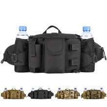 Multiusos Al Aire Libre paquetes de La Cintura bolsa de Hombro de Nylon Camo Botella doble bolsas de Viajes de Escalada Camping Caza Ciclismo