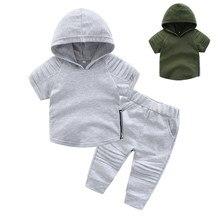 Conjunto de roupas infantis fofas e casuais para meninos, camiseta do amor você, blusa e calça, conjuntos de roupas para crianças, 2019 roupas de menino