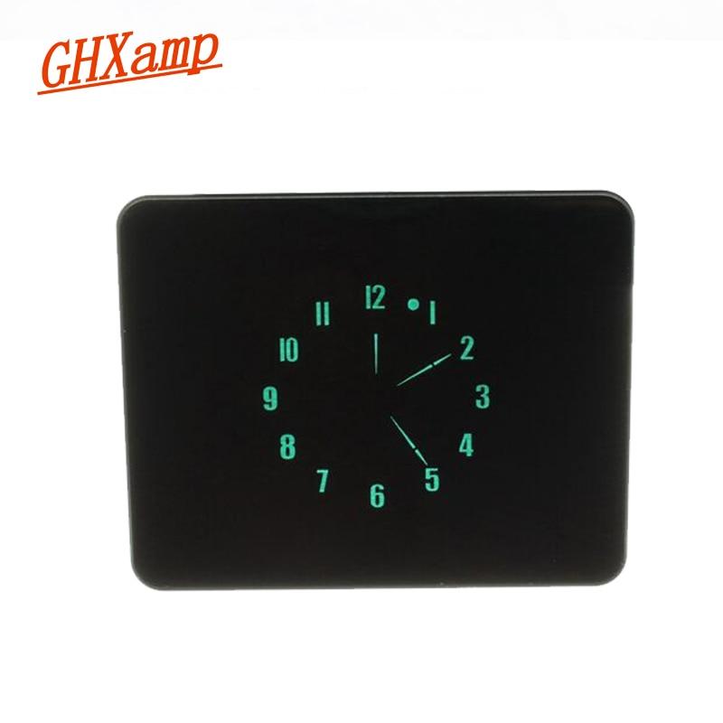 GHXAMP VFD Pointer Time Clock With light sensing Automatic Brightness Adjustment DC 5V Aluminum Manual 8