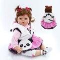 Bebês Reborn Silicone macio Toy Dolls Meninas Brinquedos presente de Aniversário Presente 50 cm bonecas reborn bebe Princesa