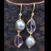 Irregular Natural Pearl Earrings