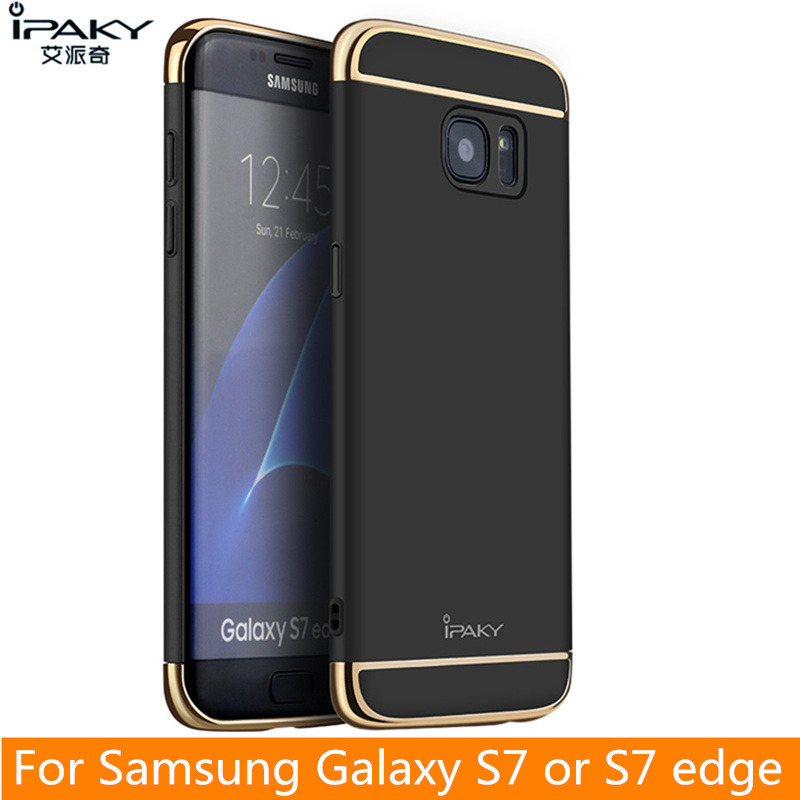 best cheap 9e6a9 a90c2 US $3.94 21% OFF|For Samsung S7 Edge Case Original iPaky Brand Back Case  for Samsung Galaxy S7 Cover Hollow Hard Armor for S7 Edge Case-in Fitted ...