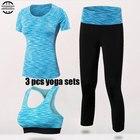 ★  Yuerlian Quick Dry Yoga Set 3 ШТ. Тренировки Tight Sexy Top Спортивный Костюм Тренажерный Зал Бег Ру ★