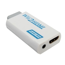 to HDMI Wii2HDMI Full HD FHD 1080P Converter Adapter 3.5mm Audio Output Jack free shipping hot sale new white wii to hdmi wii2hdmi adapter converter full hd 1080p output upscaling 3 5mm audio box