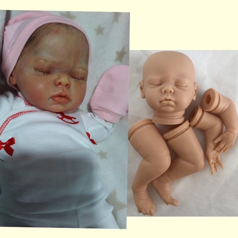 "Unpainted Soft Vinyl Reborn Dolls Girl Belly Plate Fit 20-22/"" Newborn Doll Kits"