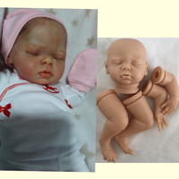 silicone baby doll unpainted doll parts hot selling eyes closed doll kits DK 81 soft vinyl reborn born DIY accessories wholesale