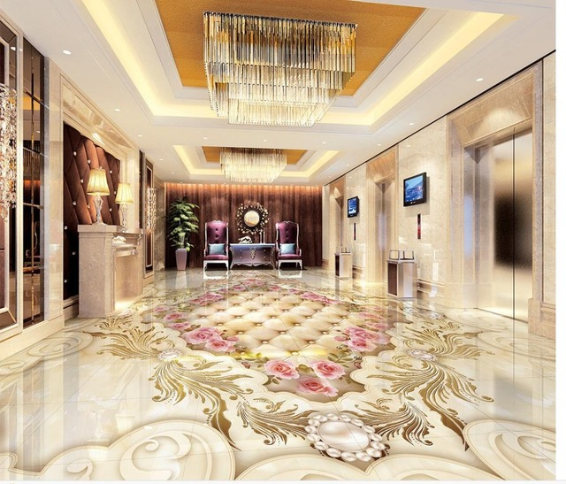 3d vloer wallpapers continental klassieke marmeren parket vloer 3d ...