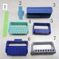 AT0535 7pcs dental equipment  root canal measuring,endo root canal holder,diainfection box for bur and root canal file