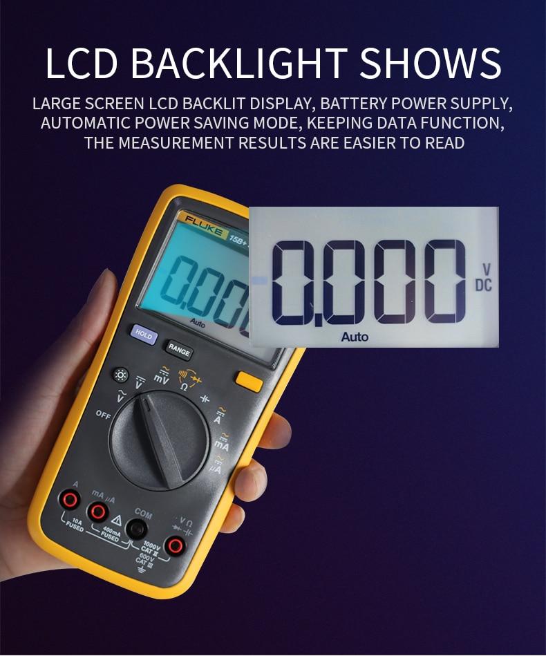 Multímetro Digital con rango automático de 4000 cuentas medidor de resistencia de Corriente CA/CC medidor de capacitancia probador de frecuencia - 3