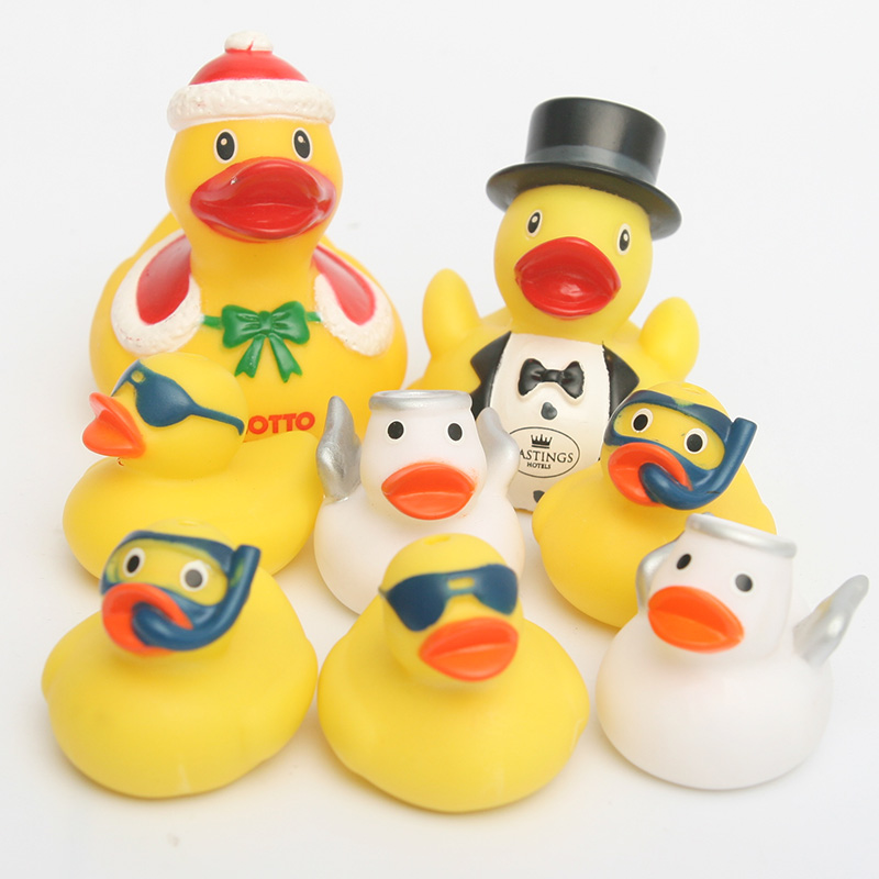 Little Angel Toys : Pcs bath toys floating rubber duck cute baby water