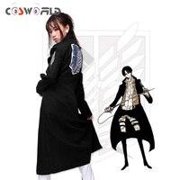 Cosworld New Anime Shingeki No Kyojin Attack On Titan Cosplay Costume Levi Mikasa Eren Trench Dust