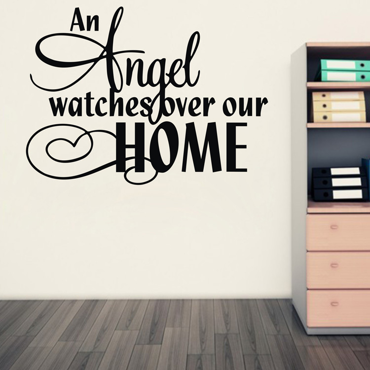 Free Shipping Family Is Vinyl Wall Lettering Quote Wall: Amazon Hot An Angel Watches Over Our Home Vinyl Wall Art