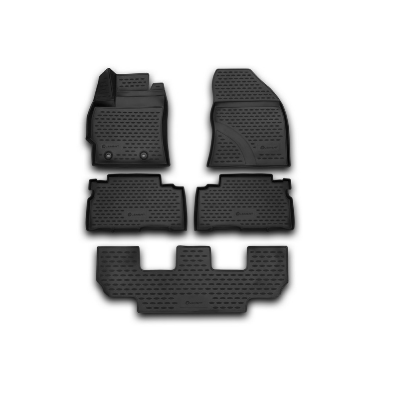 Car Mats 3D salon For TOYOTA Verso 2013-> 5 PCs (polyurethane) custom fit car floor mats for toyota camry rav4 prius prado highlander verso 3d car styling carpet liner ry56