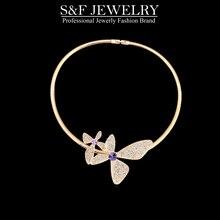 Kristall von Swarovski drehmomente halskette für frauen in schmuck klassische kristall halskette trendy schmuck sommer heißer salegift 14678