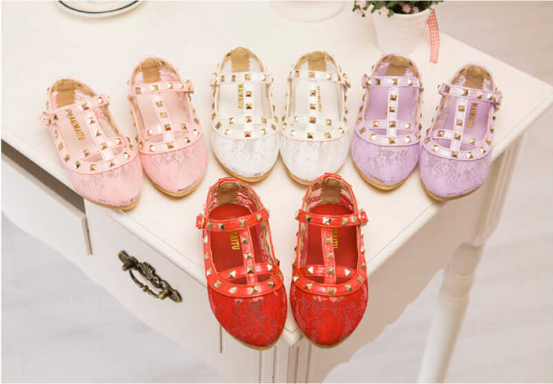 2015 New girls sandals kids boots children rivets Lace shoes 4colors casual  sandals for 2- 9faa9888180f