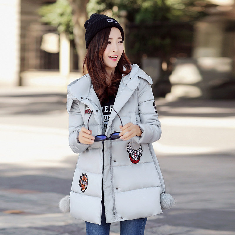 New European 2016 Women Clothing In Autumn/winters Fashion Feather Coat Thickening Parkas Female Warm Long Cotton-padded Coats