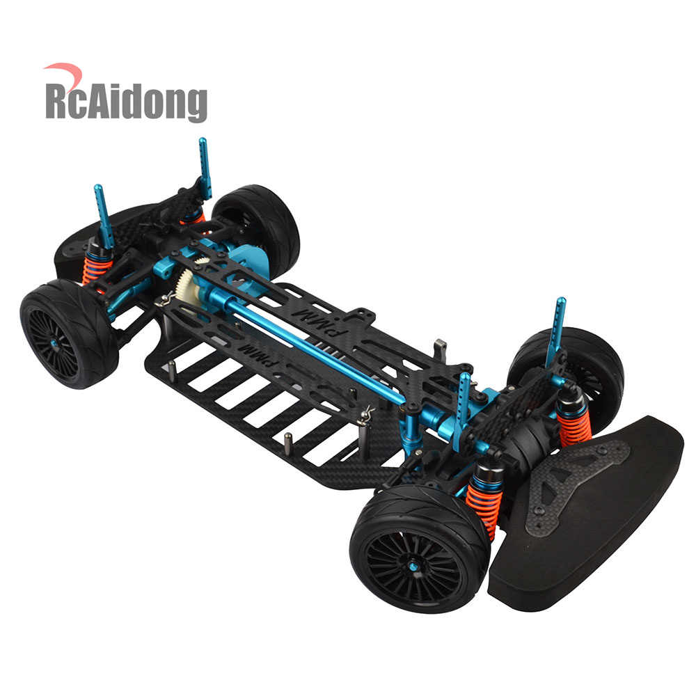 RC Legering Carbon Frame Body Kit voor 1/10 RC TT01 TT01E 4WD Touring Auto On-Road Drift Car
