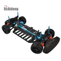 RC Car 1/10 Aluminium alloy Shaft Drive 1/10 4WD Touring Car Frame Kit