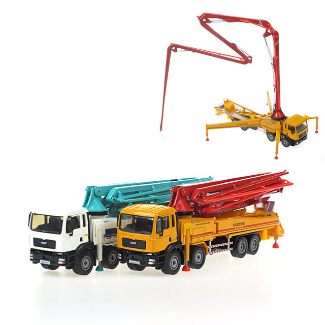 US $34 99 20% OFF|KAIDIWEI Alloy model car truck concrete pump truck adult  metal Model 1:55 Children's Day Christmas New Year gift collection-in