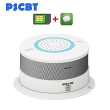 PSCBT GSM SMS Smoke Detector Fire Alarm Protection Sensor GSM SIM Card Message Smoke Alarm Phone Number Fire Detector