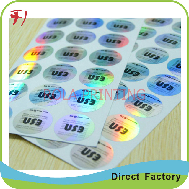 Customized 3d 2d hologram sticker printing self adhesive labels