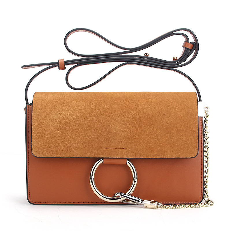 ФОТО 2017 ring small square summer new leather handbags Europe and the United States big shoulder Messenger bag