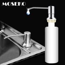 MOSEKO дозатор для кухонного мыла для раковины, моющее средство, жидкость для мытья рук, дозатор для мыла, насос для кухни, головка из нержавеющей стали