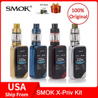 Original SMOK X Priv Kit 225W with TFV12 Prince Tank 8ml +Q4/T10 Coils For Electronic Cigarette x priv vape kit VS G PRIV 2/MAG