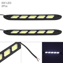 купить 2pcs 12V 5 Lights LED Daytime Running Light White Light Waterproof Auto Car DRL COB Driving Fog Lamp for Motor ATV SUV дешево