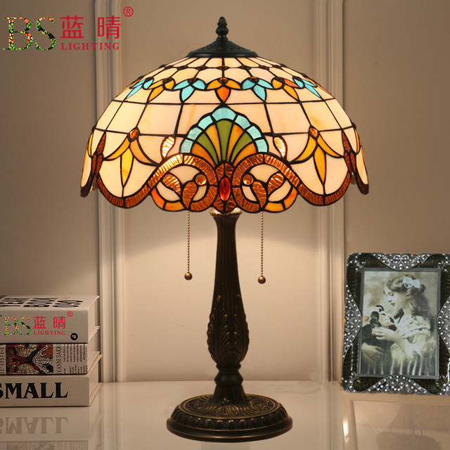 Mediterranean Retro Style Glass Turkish Mosaic Table Lamps
