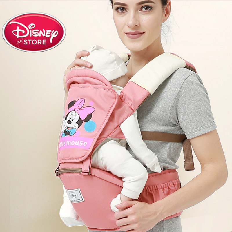 Disney Baby Carrier Infant Waist Carrier Front Facing Backpack Thickening Shoulders Comfortable Sling For Baby Travel 0-3 Months