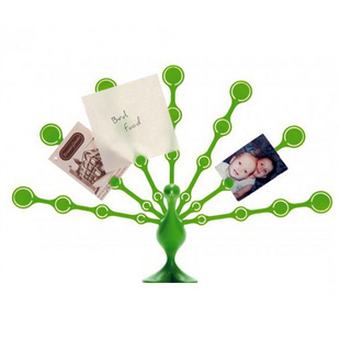 Peacock Style Notes Clip Office Supplies Flower Message Seat Peacock Feather