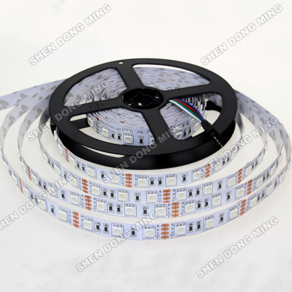 buy rgb led strip 5050 smd 12v led strip light 60 leds m 1 meter rgb white. Black Bedroom Furniture Sets. Home Design Ideas