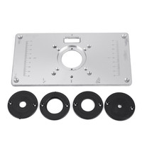 Aluminum Metal Router Table Insert Plate 4pcs Ring 234 120mm For DIY Woodworking Tool Wood Router